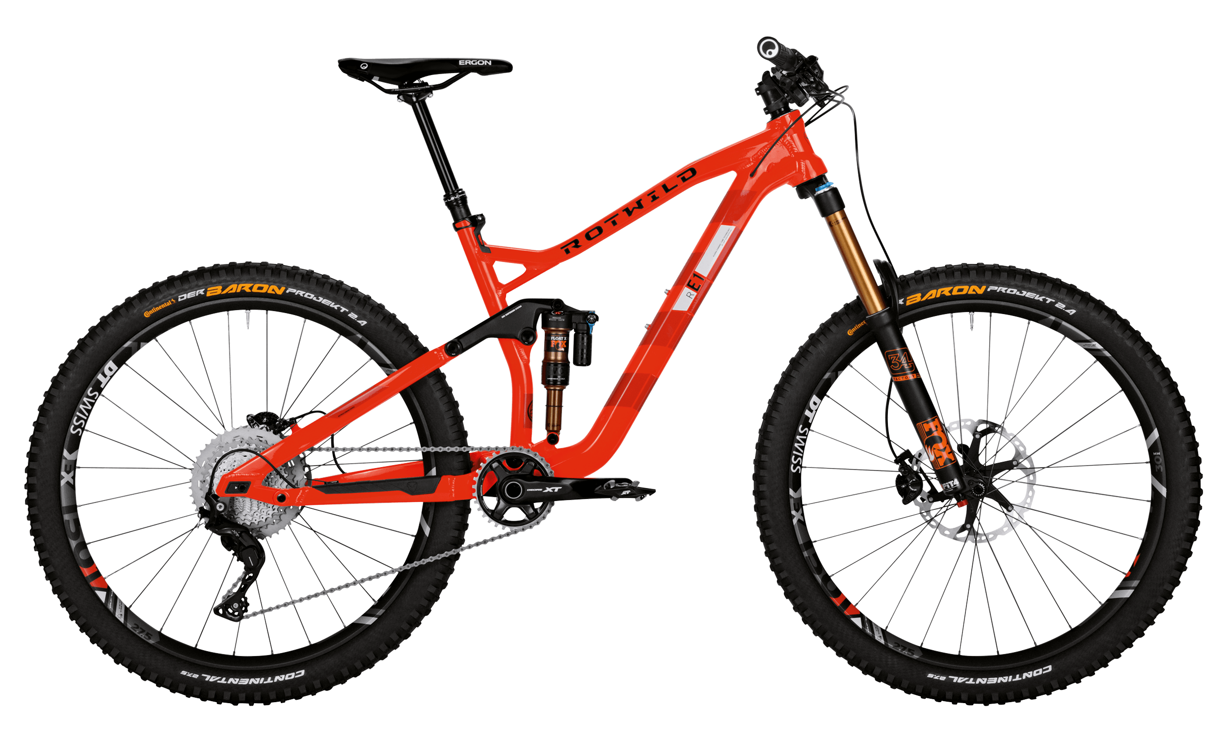 R.E1 FS 27.5 EVO - BURNING RED - L - bike´n soul Shop