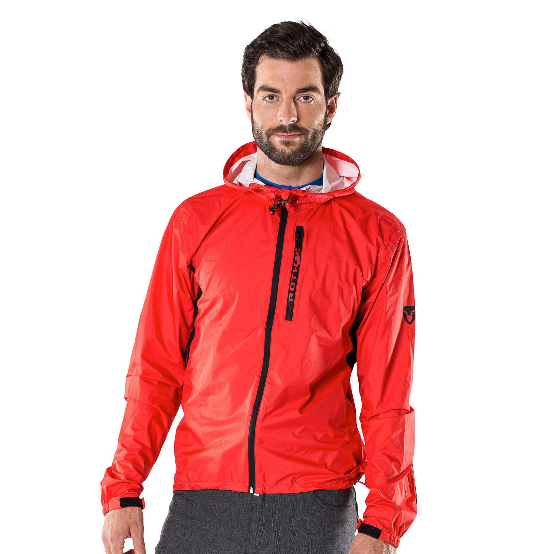 RCD RAINJACKET LIGHT - hot red - L - Radsport 360
