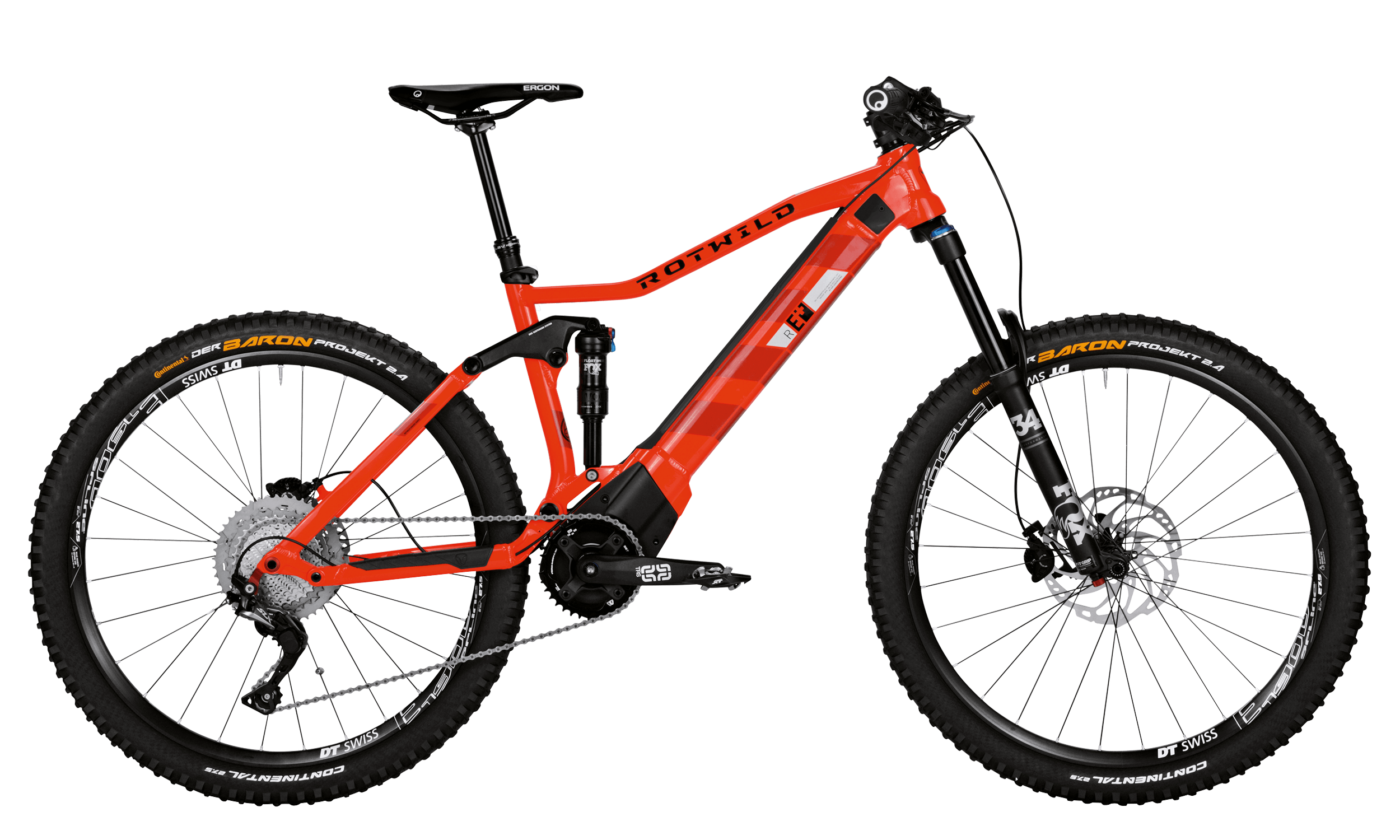 R.E+ FS 27.5 PRO - BURNING RED - L - BikeAcademy