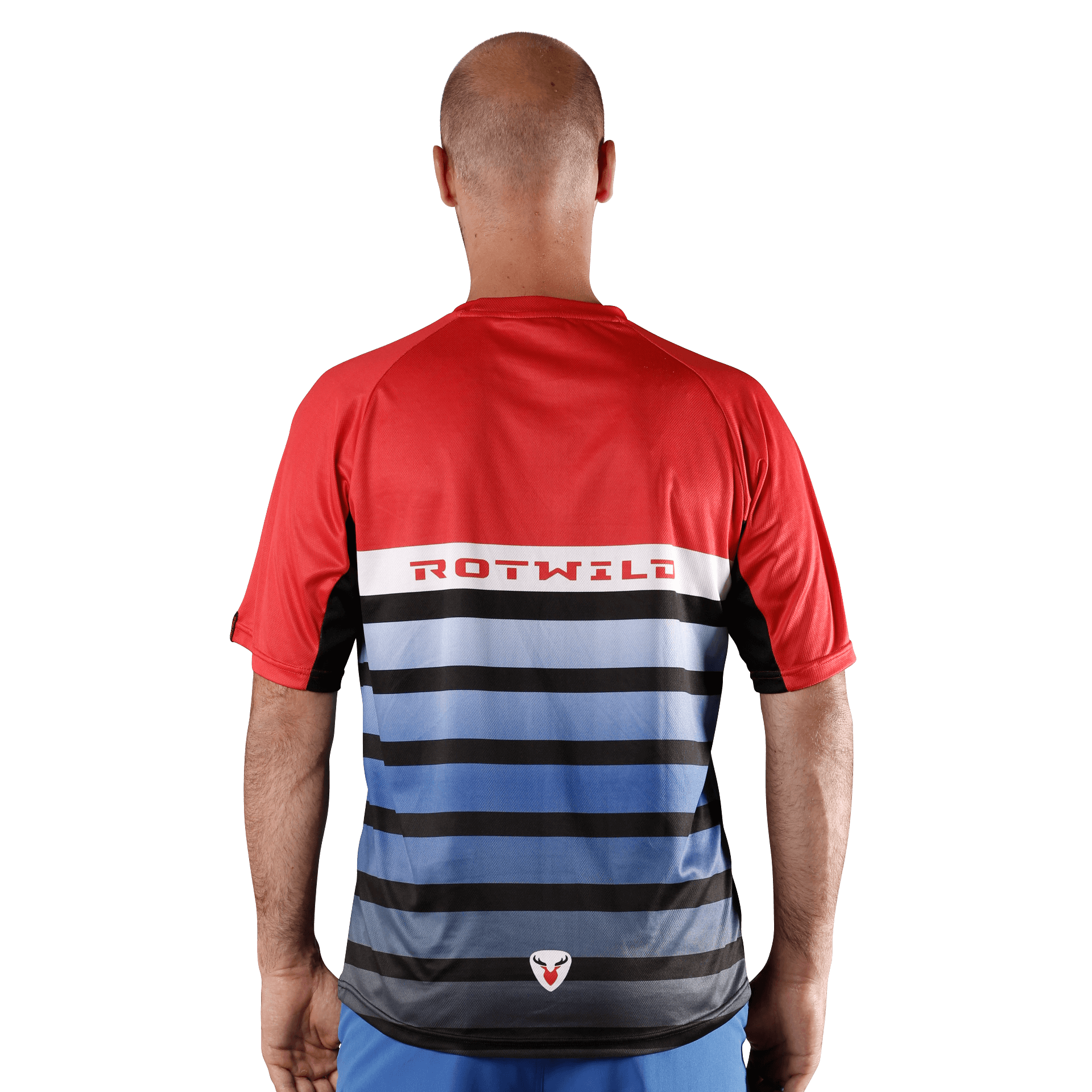 RCD ENDURO SHIRT - RED/BLUE - L - RCD ENDURO SHIRT - RED/BLUE - L
